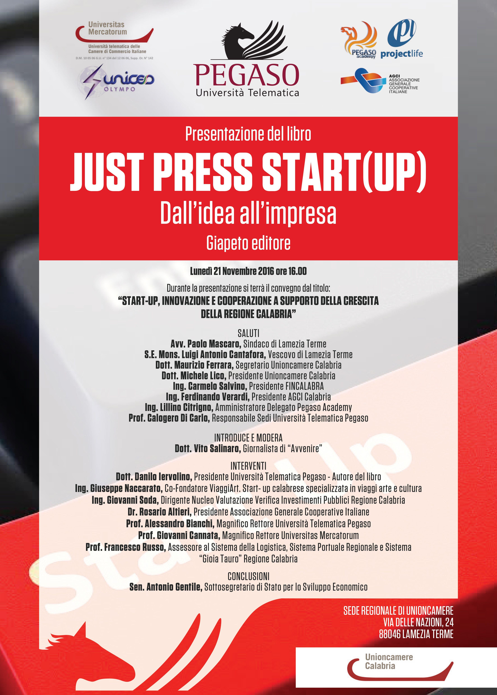 """Presentazione del libro: """"JUST PRESS START(UP ..."""