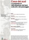CASA DEI SUD: La proposta di valorizzazione dei beni culturali e del paesaggio