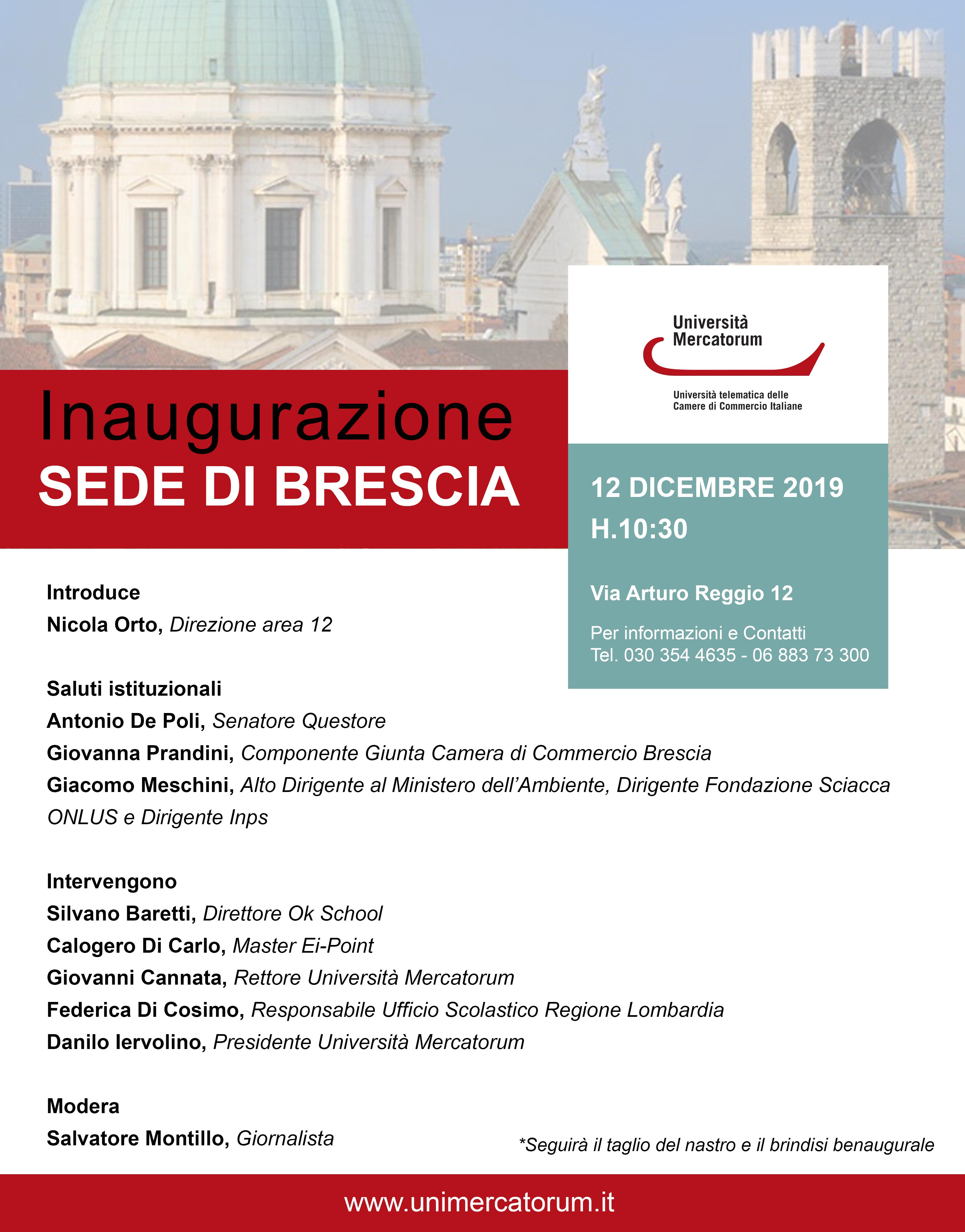 Inaugurazione nuova sede Mercatorum a Brescia ...
